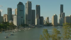 Brisbane city skyscrapers 4 Stock Footage