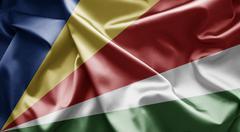 flag of seychelles - stock illustration