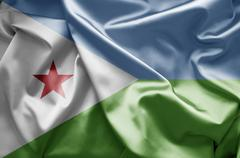 Stock Illustration of flag of djibouti