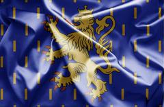flag of franche-comte - stock illustration