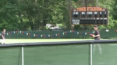 Tigers baseball practice (2 of 6) - stock footage