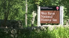 Weir Farm National Historic Site (2 of 2) Stock Footage