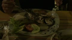 Plate with a fish Stock Footage