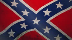 Old American Confederate Flag Stock Footage