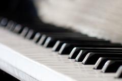 Close-up shot of piano keyboard. Stock Photos