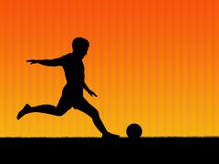 Stock Photo of soccer background