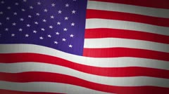 USA Stars and Stripes Flag Stock Footage