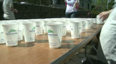 Marathon hydration (1 of 4) - stock footage