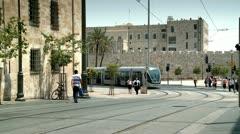 City Train of Jerusalem 1 Stock Footage