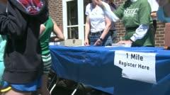 Stock Video Footage of Registering marathon runners (1 of 3)