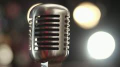 Vintage studio mic Stock Footage