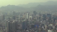 Stock Video Footage of Aerial view of Seoul in twilight, South Korea