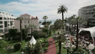 Stock Video Footage of View of the square in front of Grand Hotel in Cannes, France