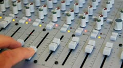 Studio Mixing Board Console for Professional Digital  & Analog Recording - stock footage