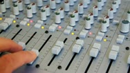 Studio Mixing Board Console for Professional Digital  & Analog Recording Stock Footage