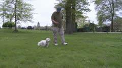 Man's best friend (3 of 3) Stock Footage