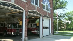 Town firehouse (1 of 2) Stock Footage