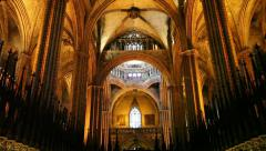Cathedral in Barcelona Stock Footage