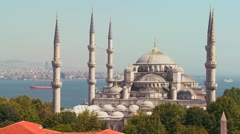 The Blue Mosque in Istanbul, Turkey. Stock Footage