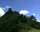 Stock Video Footage of MAURITIUS le pouce mountain full shot and zoom out