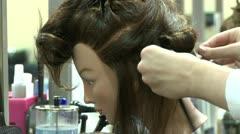 Hair Salon Mannequin Head Stock Footage