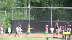 Little league kickball (2 of 3) Stock Footage