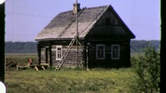 Russian DACHA CABIN Soviet Union USSR 1970s Vintage Film Home Movie 4320 Stock Footage