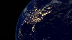 America at Night Stock Footage