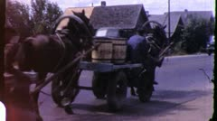 HORSE CART UKRANE Soviet Union USSR 1970s Vintage Film Home Movie 4323 Stock Footage