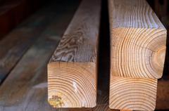 Timber beams - stock photo