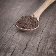 Instant coffee in the spoon Stock Photos