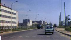 DRAB Soviet Union STREET SCENE City USSR 1970s Vintage Film Home Movie 4324 - stock footage