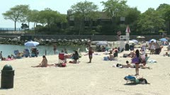 Appreciating the beach (2 of 5) Stock Footage