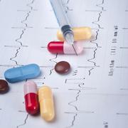 Drugs on the ecg Stock Photos