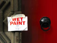 Wet paint sign Stock Photos