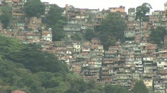 Hillside Slum Dwellings in Rio De Janeiro, Brazil Referred To As A Favela - stock footage