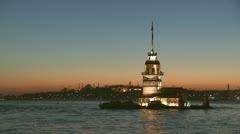 Maiden's Tower (Kiz kulesi)#2 - stock footage