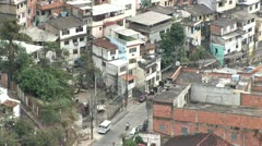 Looking Down into the Favela of Rio De Janeiro, Brazil Stock Footage