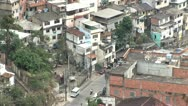Stock Video Footage of Looking Down into the Favela of Rio De Janeiro, Brazil