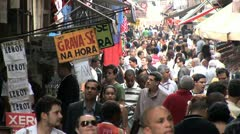Stock Video Footage of Very Crowded Marketplace in Favela of Rio De Janeiro, Brazil 2