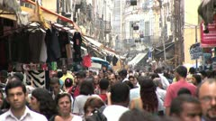 Very Crowded Marketplace in Favela of Rio De Janeiro, Brazil 3 Stock Footage