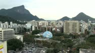 Stock Video Footage of View of the City of Rio De Janeiro and the Cristo Redentor in the Far Distance