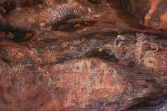 Aboriginal paintings Stock Photos