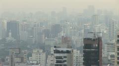 Smoggy View of Sao Paulo Brazil s Downtown City Scrape - stock footage
