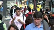 Stock Video Footage of Heavy Pedestrian Traffic in Centro De Sao Paulo, Brazil 2