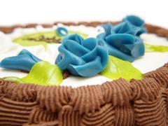 baptism cake - stock photo