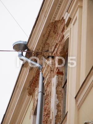 Stock photo of damaged exterior
