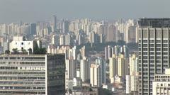Sao Paulo s Downtown City Scrape Stock Footage