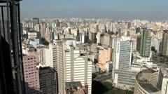 Sao Paulo s Downtown City Scrape 2 Stock Footage