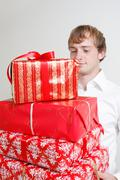 Stock Photo of presenting alot of gifts